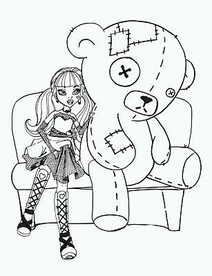 Monster High, Dibujos de Draculaura para Colorear - IMÁGENES PARA ...