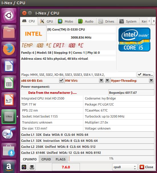 Get Hardware Information (CPU, MainBoard, GPU, RAM) Under Ubuntu