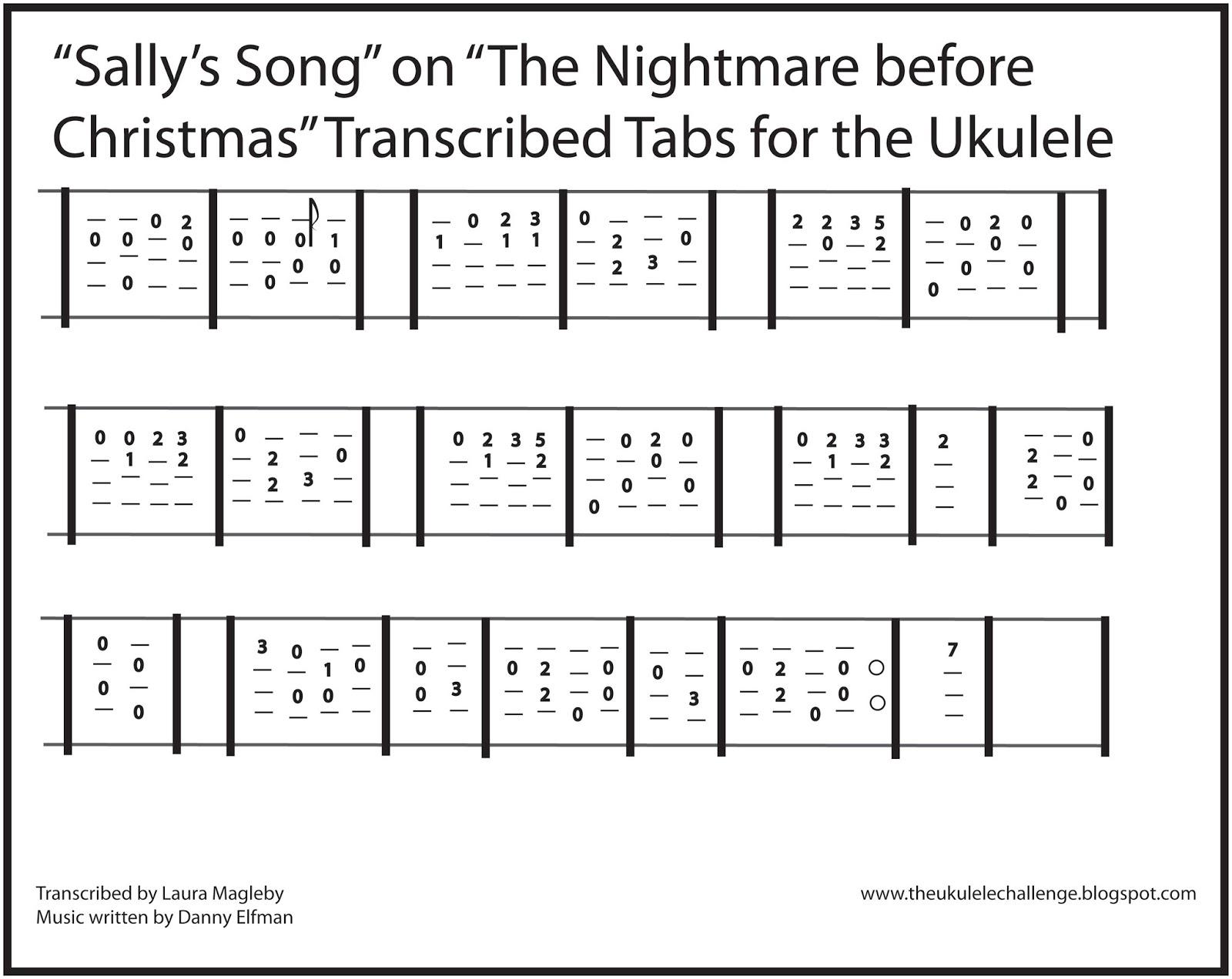The Ukulele Challenge: Sally\'s Song