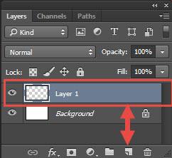new layer photoshop