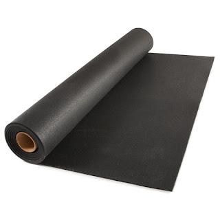 Greatmats Rubber Flooring Rolls 1/2 Black Geneva