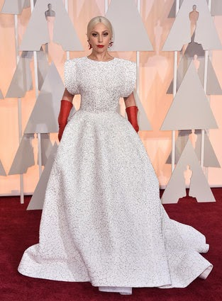 Lady Gaga in Azzedine Alaia at Oscars 2015