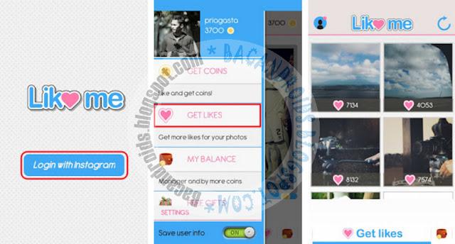InstaLike Me - Cara Cepat Memperbanyak Like di Instagram Android
