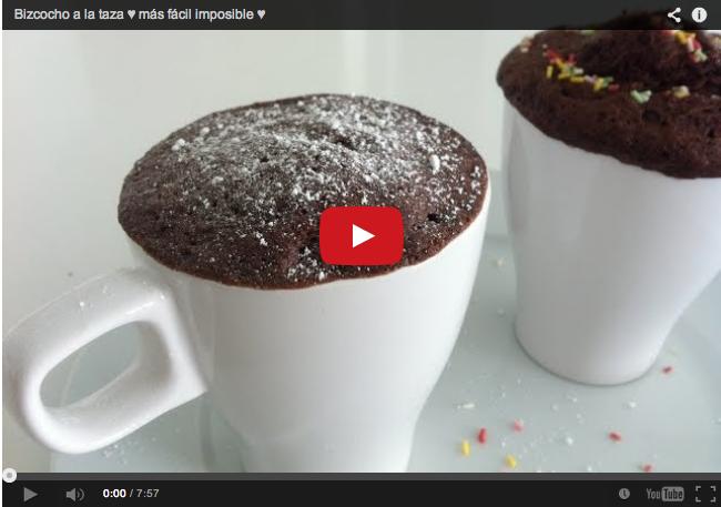 Video receta de bizcocho a la taza fácil