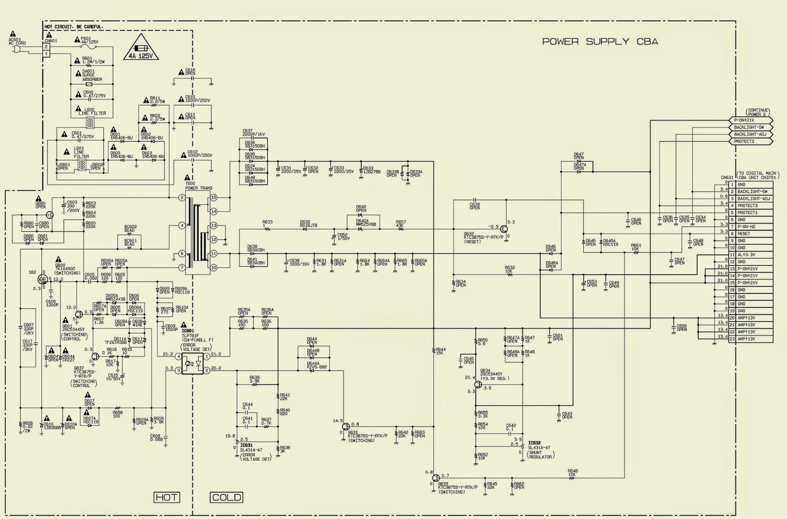 magnavox plug wiring diagram magnavox 32mf301b power supply schematic and service mode ... magnavox wiring diagram