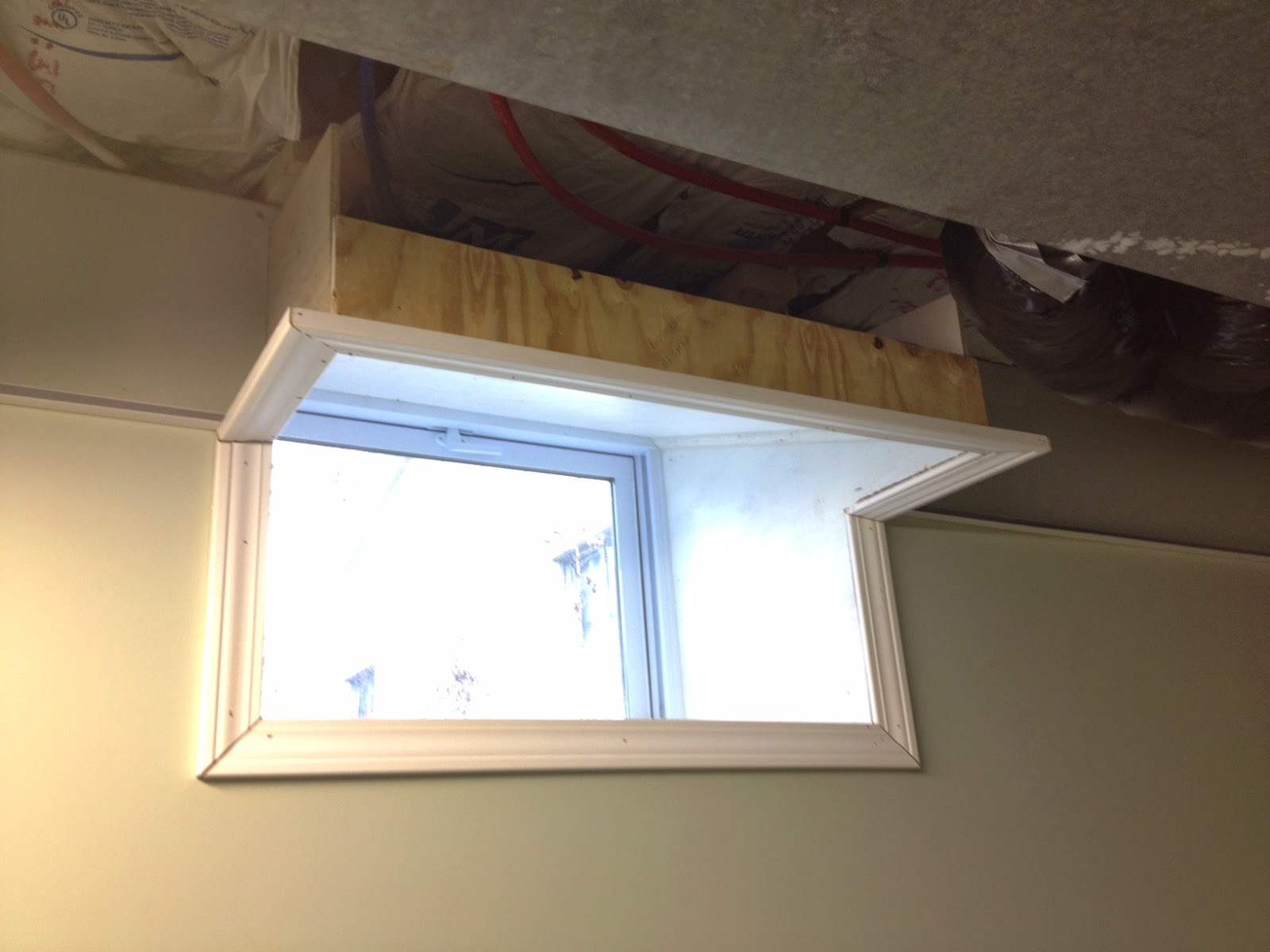 Then I Cut And Attached Window Casing Around The Opening Of Box On Top Would Take Place Angle Pieces For Drop Ceiling