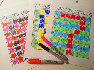 Color By Number Practice Sheets