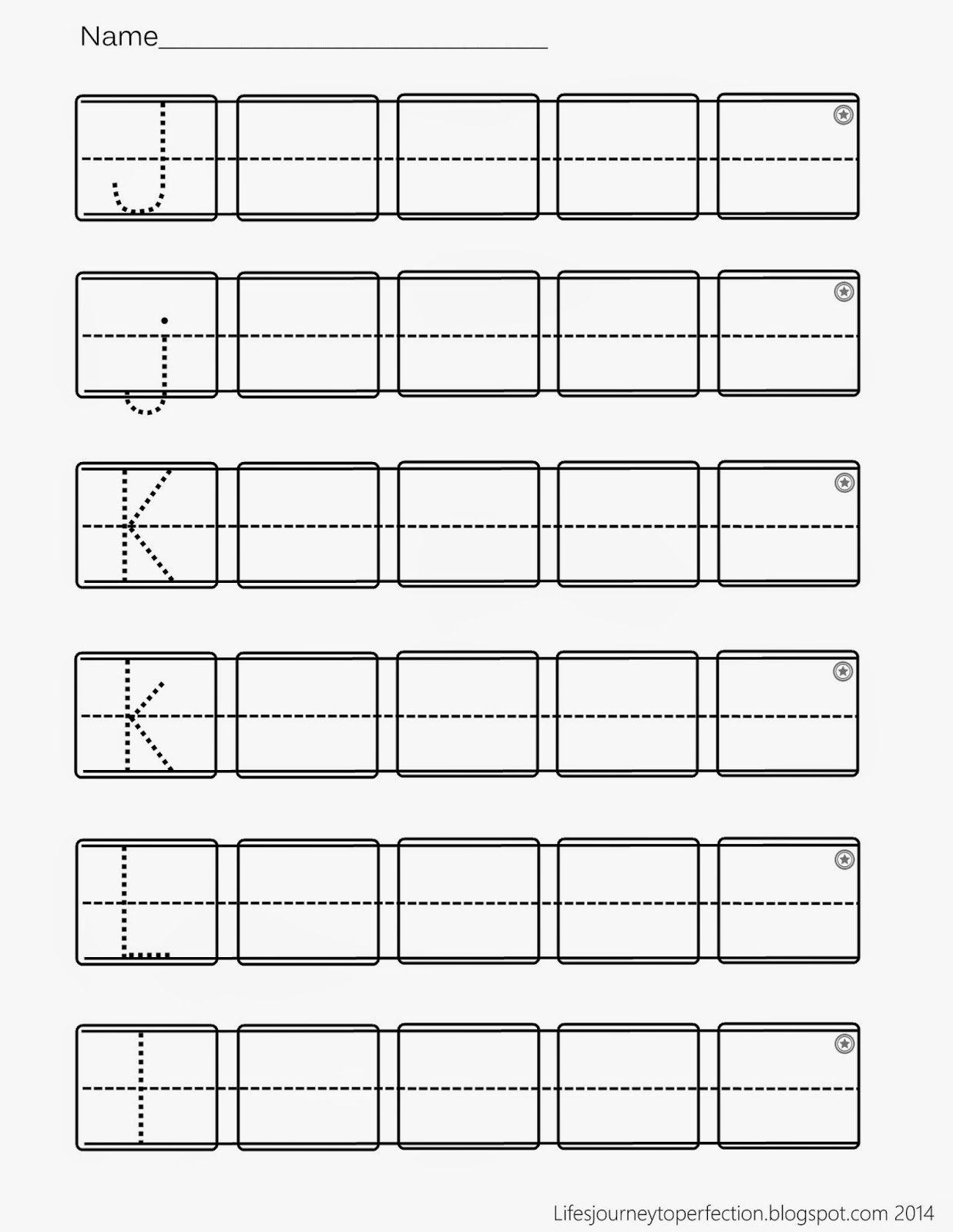 Life S Journey To Perfection Preschool Practice Abc Writing Worksheet Printables