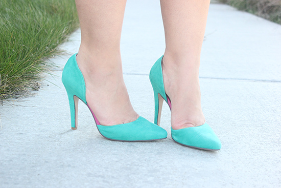 Custom d'Orsay Mint Shoes of Prey Heels