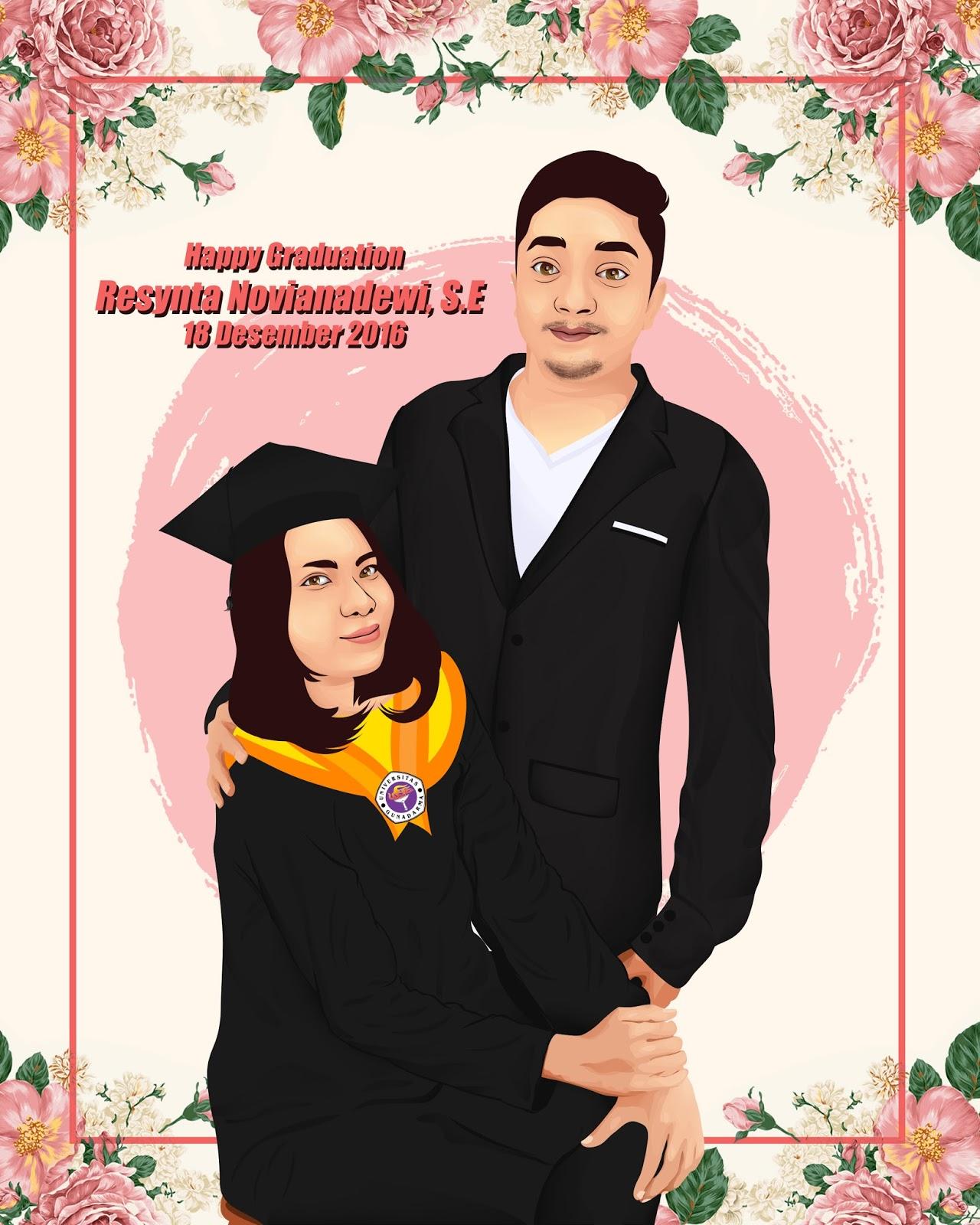 Jual Kado Pernikahan Kartun Wajah ARTupayscom