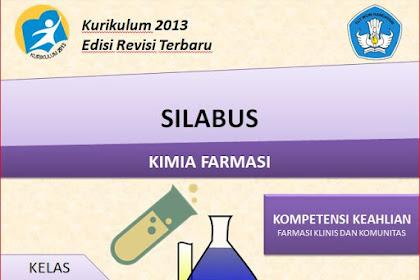 Silabus Kimia Farmasi Kelas XI SMK/MAK Kurikulum 2013 Revisi 2018