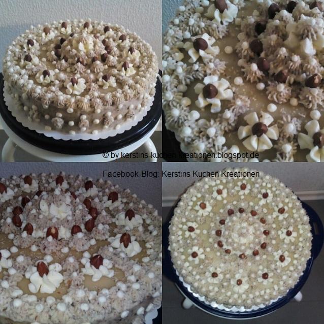 Kerstins Kuchen Kreationen Nuss Sahne Torte
