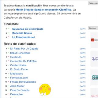 clasificación final premios bitácoras