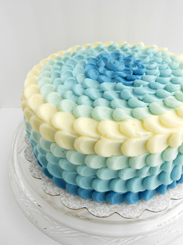 Blue Ombre Cake Images : Blue Ombre Petal Cake - Confessions of a Confectionista