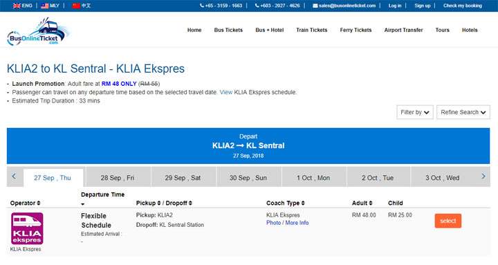 Cara booking tiket ERL secara online