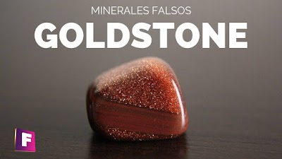 Goldstone (Mineral falso) el material que imita a la piedra del sol, como diferenciarlas ?