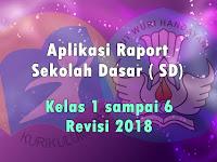 Aplikasi Raport SD Kelas 1 sampai 6 Semester 2 Kurikulum 2013  Revisi 2018