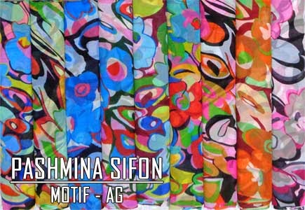 Grosir jilbab pashmina sifon motif terbaru 2015