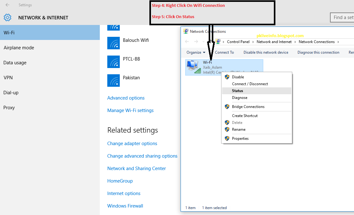 How to change wifi username and password in windows 10