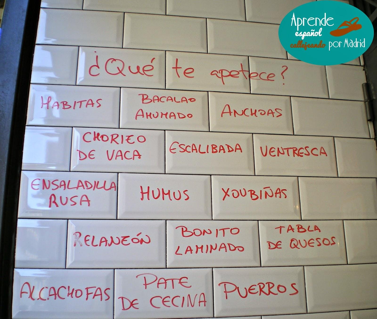 Buen Provecho Aprende Espanol Callejeando Por Madrid