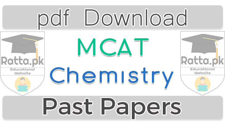 MCAT Chemistry Past Papers 2016 pdf download
