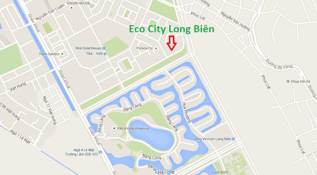 Vị trí siêu đẹp tại Ecocity Long Biên.