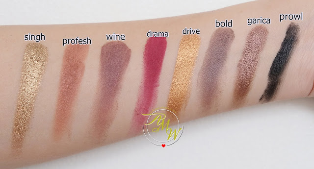 a swatch photo of IMAGIC PROfessional Cosmetics 16 Color Eyeshadow Palette Review by Nikki Tiu of www.askmewhats.com