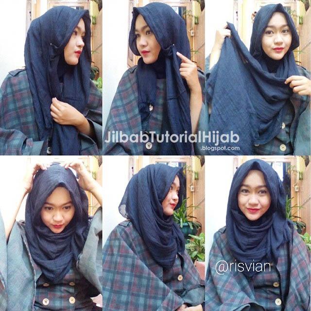 Cara Menggunakan Hijab Pashmina - gaya hijab terbaru 2016