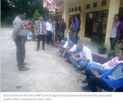 Polisi Bina Pelaku Tawuran SMA Negeri 6 Siantar Lawan Anak Putus Sekolah