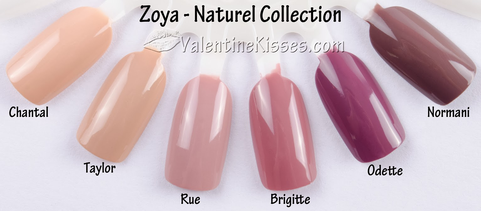 Valentine Kisses Zoya Naturel Collection All 6 Shades Pics Swatches Review