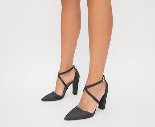 Pantofi Basia Negri cu decupaje eleganti