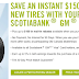 Scotiabank GM Visa额外送$150 winter tire rebate