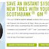 Scotiabank GM Visa额外送$150 winter tire rebate