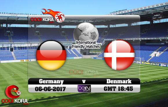 مشاهدة مباراة الدنمارك وألمانيا اليوم 6-6-2017 مباراة ودية