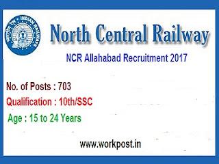 NCR Allahabad 703 Apprentice Recruitment 2017