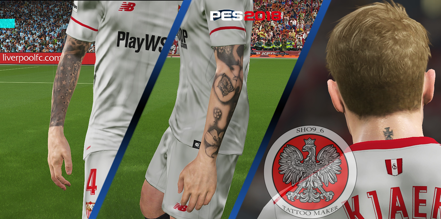 PES 2018 KS Tattoopack Simon Kjaer