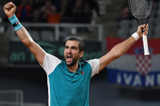 Cilic stars as Croatia reach Davis Cup semi-finals