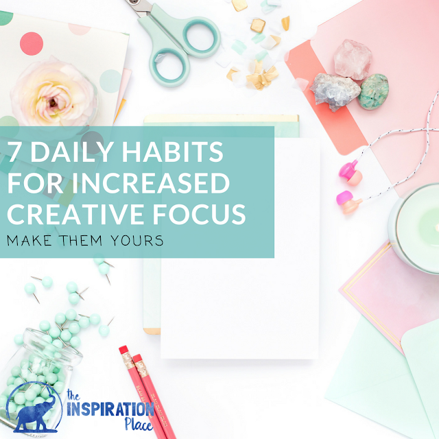 how to focus | how to be productive | art studio practice | productive artist http://schulmanart.blogspot.com/2017/03/7-daily-creative-habits-for-increased.html