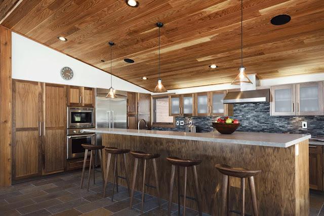 sagemodern prefab house kitchen
