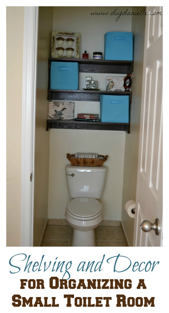 Simple Shelving and Decor for Organizing a Tiny Bathroom
