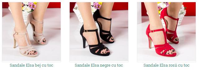 sandale de ocazie cu toc din catifea negre, rosii
