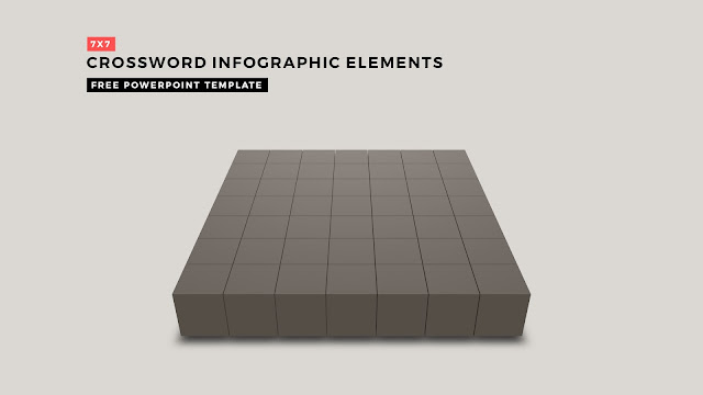 Crossword Puzzles Infographic Elements with 7x7 Basic Frame for PowerPoint Templates