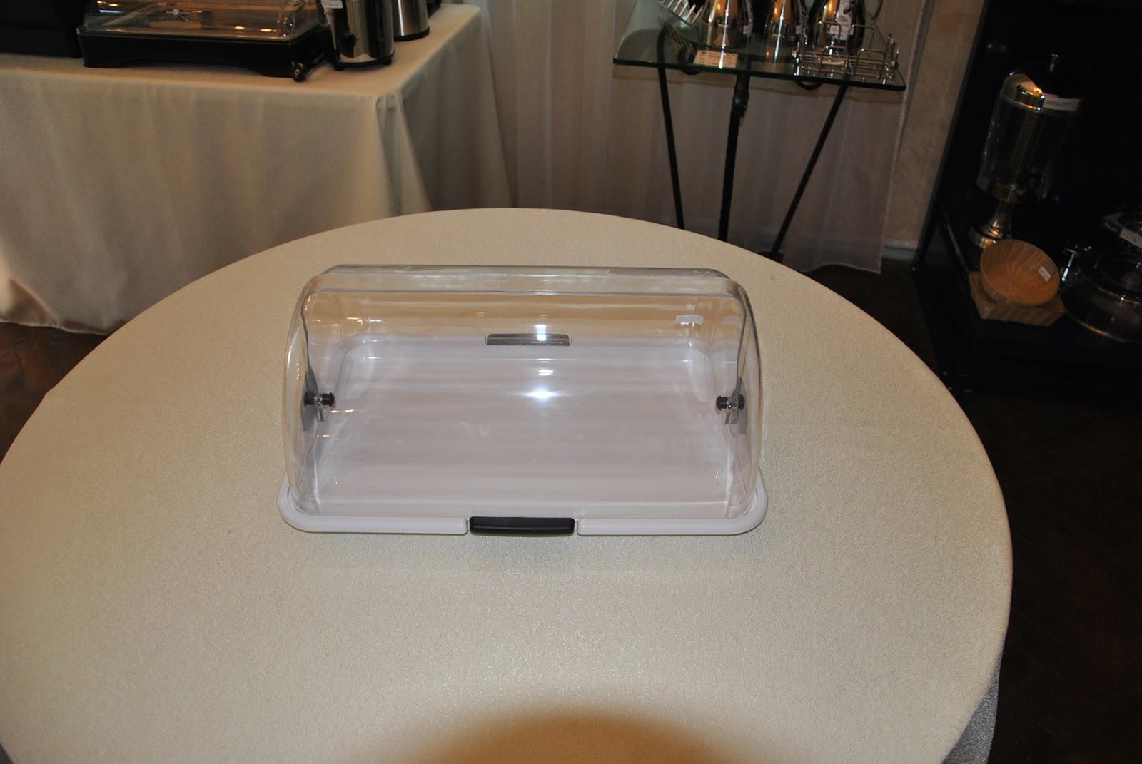 Tava de prezentare cu capac roll-top transparent 465x310x(H)190 mm