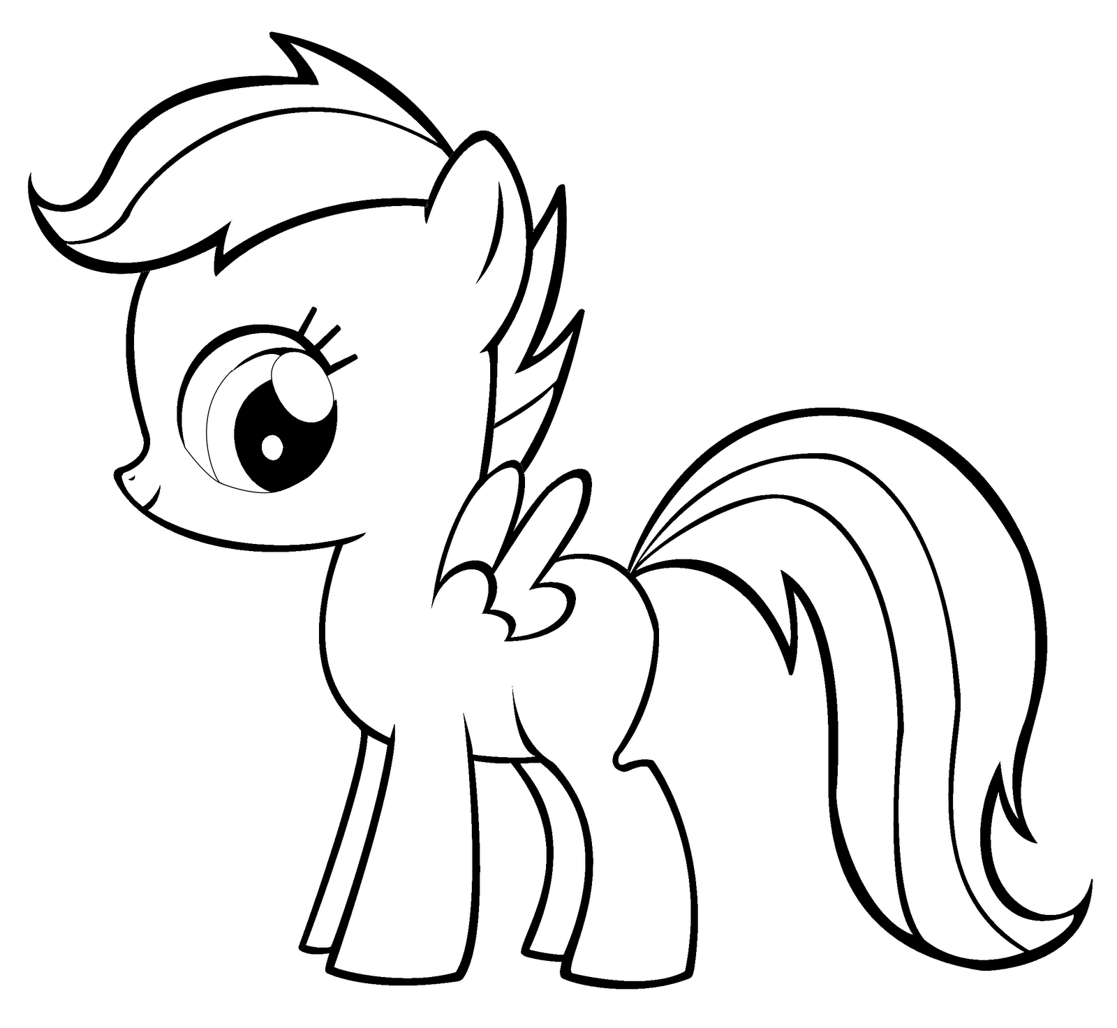 My little pony coloring pages scootaloo pony ~ Coloring Fun!: Applebloom & Scootaloo