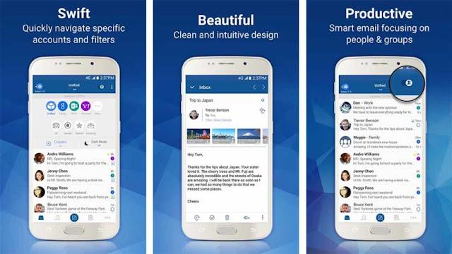 καλύτερη email εφαρμογή για smartphones