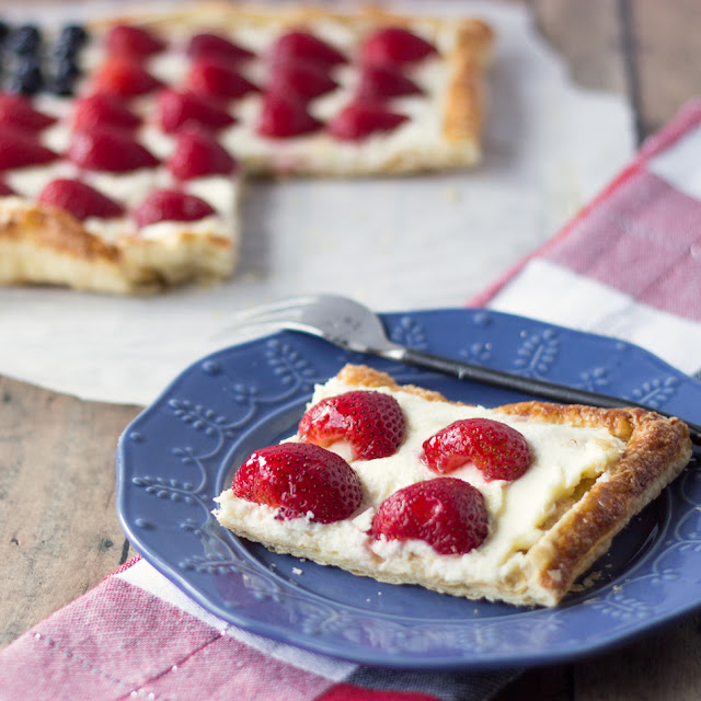 Berry Tart Patriotic www.cookingonthefrontburners.com