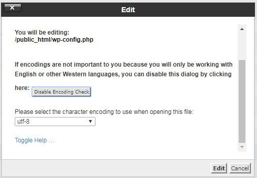 chỉnh sửa file wp-config.php