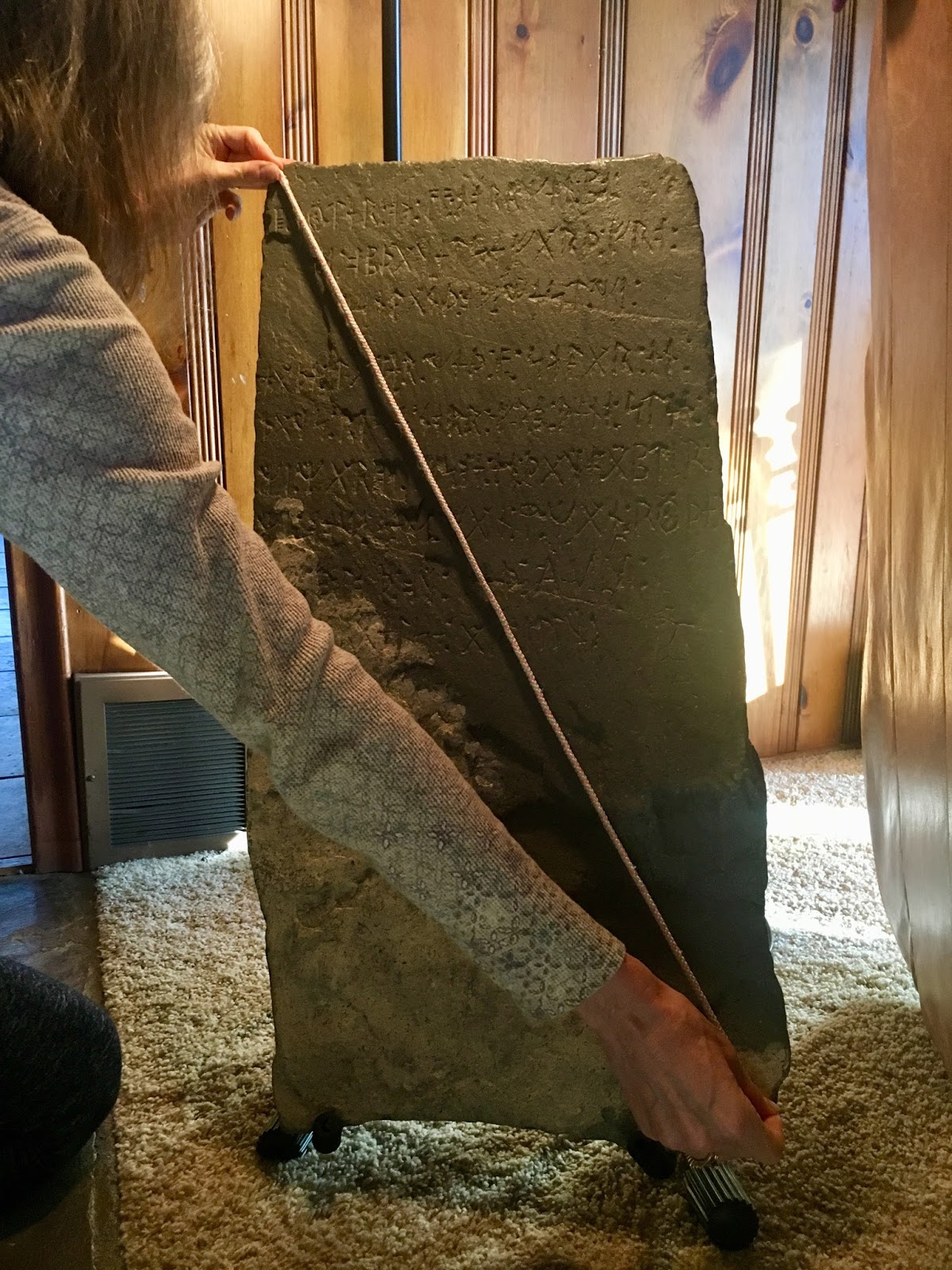 Scott wolter answers proof positive the kensington rune stone is when measured down the split side of the kensington rune stone it measures just over an inch longer than a megalithic yard of 272 feet malvernweather Image collections