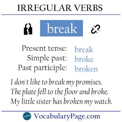 Is break an irregular verb?