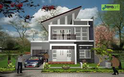 20 model rumah minimalis 2 lantai ~ taman dan kolam sederhana